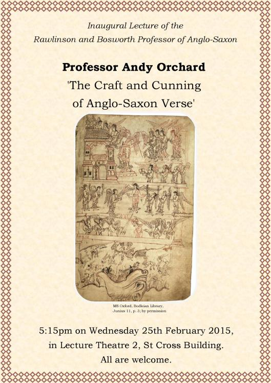Inaugural Lecture of the Rawlinson and Bosworth Professor ofAnglo-Saxon-page-001